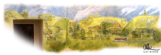 Todmorden Library Mural Cat Byrne 1