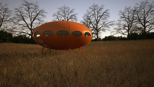 Futuro House Orange - Simon Edwards