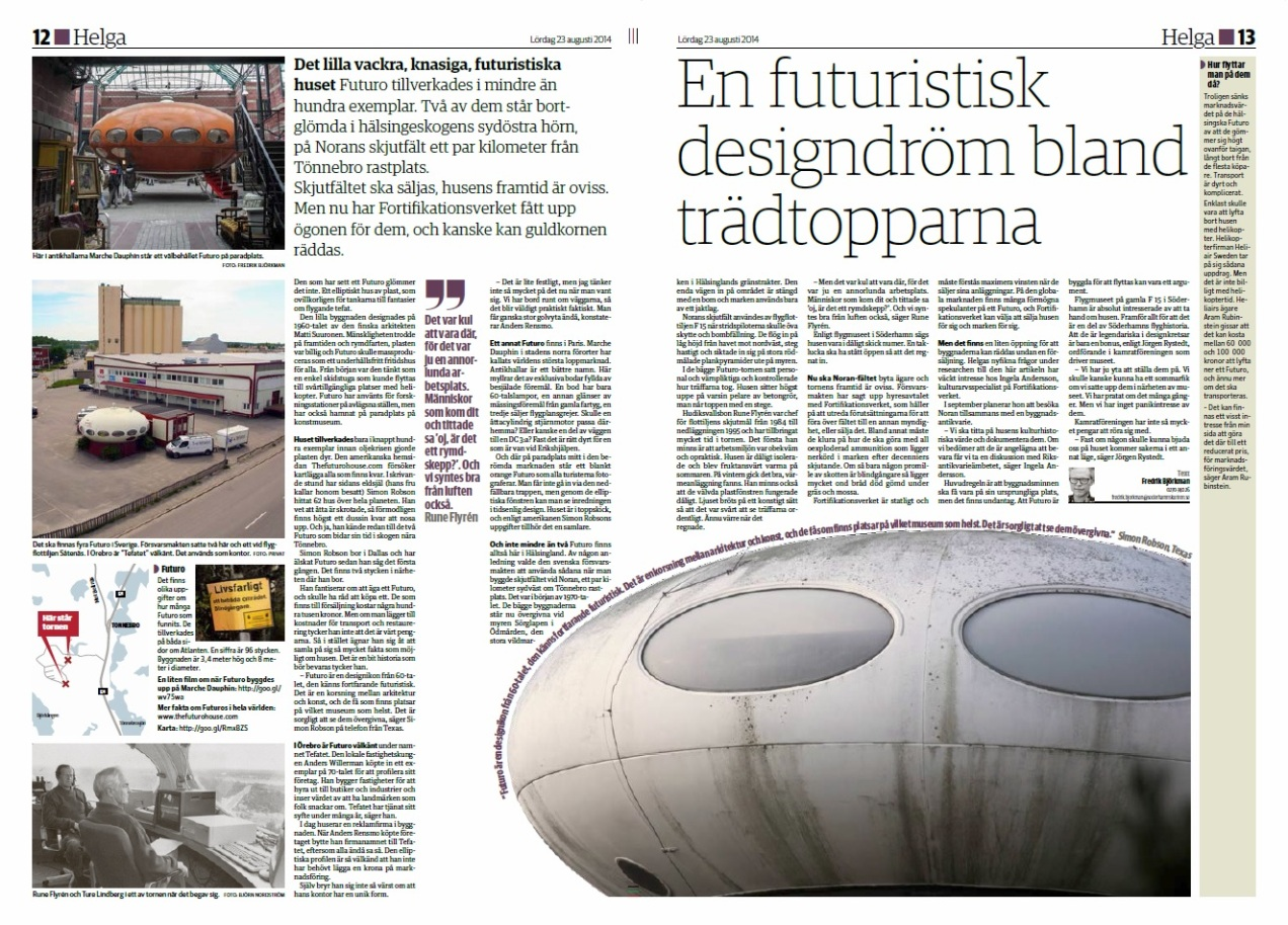The Futuro House In The Press And On Loan Information