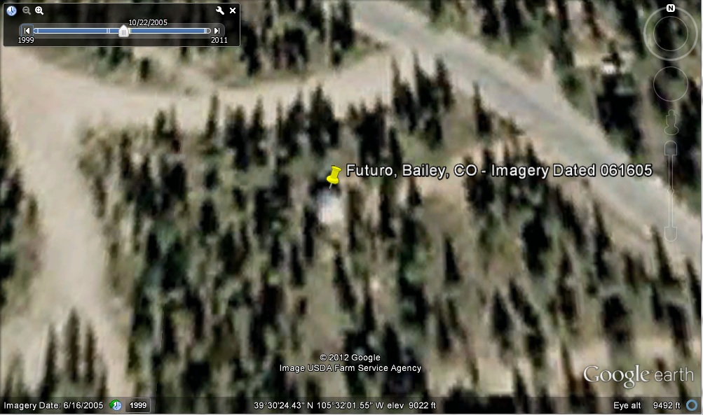Futuro, Bailey, CO, USA - Google Earth Historical